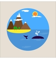 Flat picture sea holiday tourism icon vector image