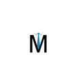 M alphabet logo vector image