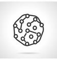 Pathogens black line design icon vector image
