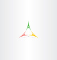 people triangle partner logo sign element vector image