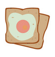 toasted breads with egg vector image