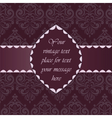 Vintage Classic Invitation with ornaments vector image