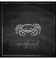 vintage with a crab on blackboard background vector image
