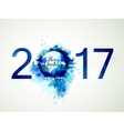 Blue composition Merry Christmas and New Year vector image vector image
