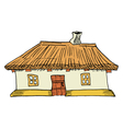 Ukrainian traditional house vector image vector image