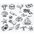 Hand drawn of travel vector image vector image