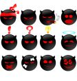 devil's smiles set two vector image vector image
