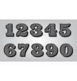set stylized digits for design certification vector image