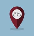 bicycle map pin vector image