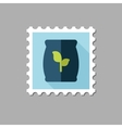 Fertilizer flat stamp with long shadow vector image