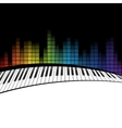 piano icon template vector image