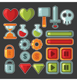 game design objects vector image