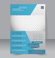Flyer template Business brochure Editable A4 vector image