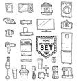 Home appliances doodle set vector image vector image