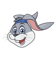 Smiling rabbit head 2 vector image