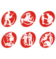 Cinema Silhouettes Icons Soldier vector image