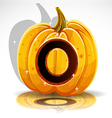 Halloween Pumpkin O vector image