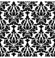 Black colored floral arabesque seamless pattern vector image