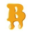 Letter B from honey icon vector image