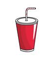 tasty soda drink beverage vector image