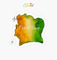Travel around the world Cote d Ivoire Watercolor vector image