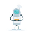 chef android character baking a cake vector image