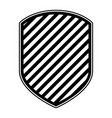 emblem in monochrome and striped vector image