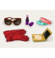Fashion collection of classic women accessories vector image