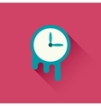 Melting clock icon vector image