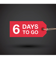 6 days left sale vector image vector image