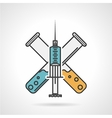 Colored icon for vaccination vector image