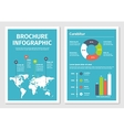 Modern business infographic brochure template 1 vector image