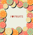 Fruit background in Flat Frame vector image