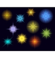 glowing stars lights and sparkles vector image