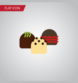 isolated patisserie flat icon cake element vector image