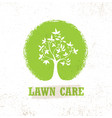 lawn care creative organic sign concept vector image