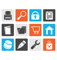 Black website internet and computer icons vector image vector image
