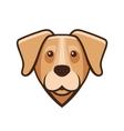 Labrador Retriever Dog Head Icon vector image