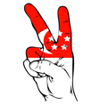 Peace Sign of the Singapore flag vector image vector image