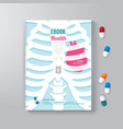 Cover Book Design Minimal Style Template vector image