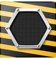 Abstract metallic striped black vector image