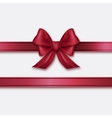 Burgundy ribbon and bow vector image