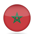 button with flag of Morocco vector image
