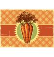 Carrots vintage label vector image