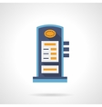 Charging station flat color icon vector image