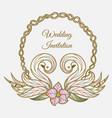 color wedding invitation vector image