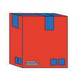 delivery cardboard box package icon vector image