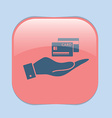 hand holding a credit card vector image