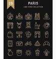 Paris Line Icons 9 vector image