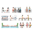 people in spa beauty salon and various beauty vector image